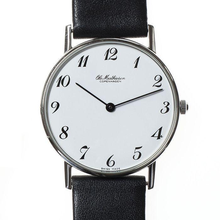 Ole Mathiesen Armbanduhr OM3 Edelstahl poliert