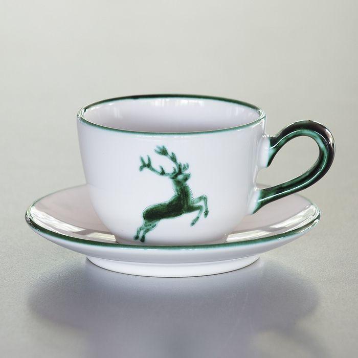 Grüner Hirsch Kaffeetasse