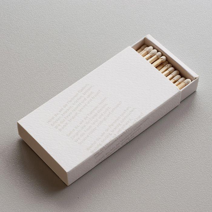 Lange Zündhölzer mit einem Gedicht von James Krüss