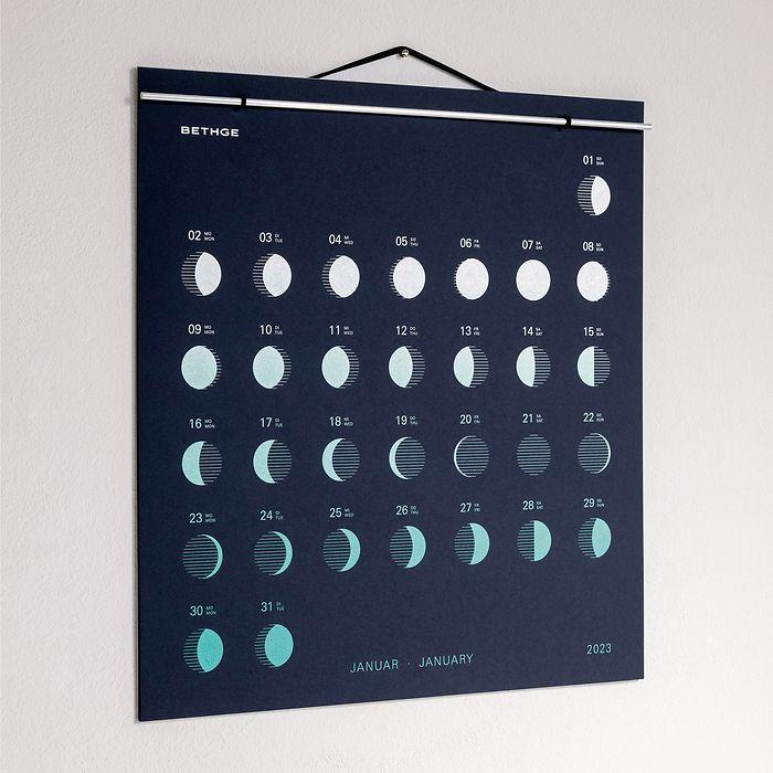 BETHGE Mondphasen-Wandkalender 2021