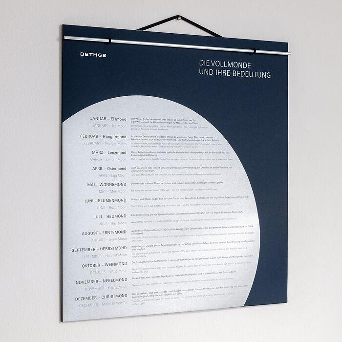 BETHGE Mondphasen-Wandkalender 2022