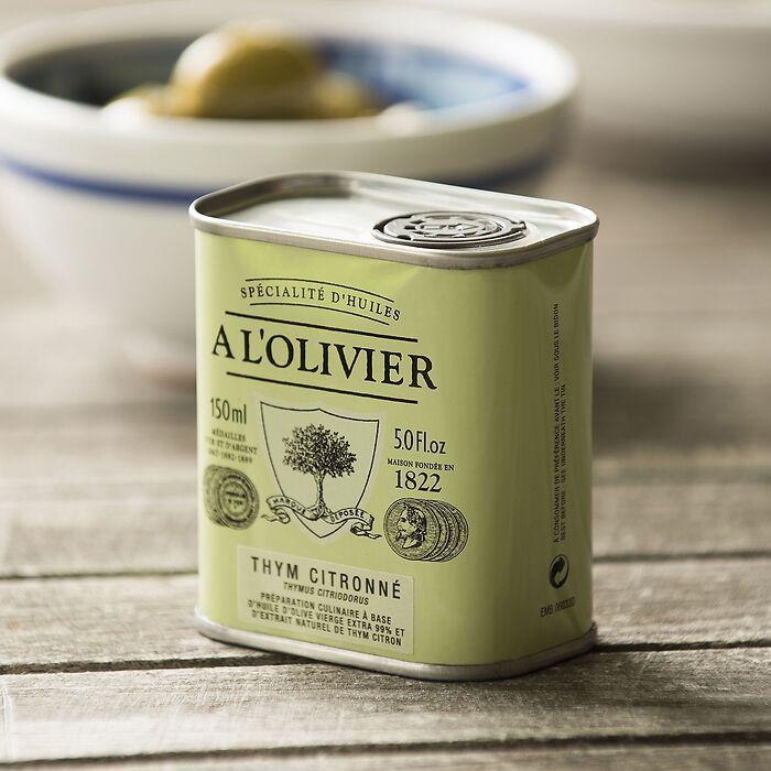 A L´Olivier Olivenöl in Metalldose mit Zitronenthymian 15cl