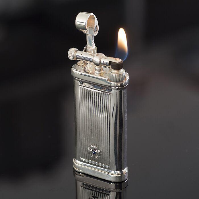 Feuerzeug Old Boy Sterlingsilber