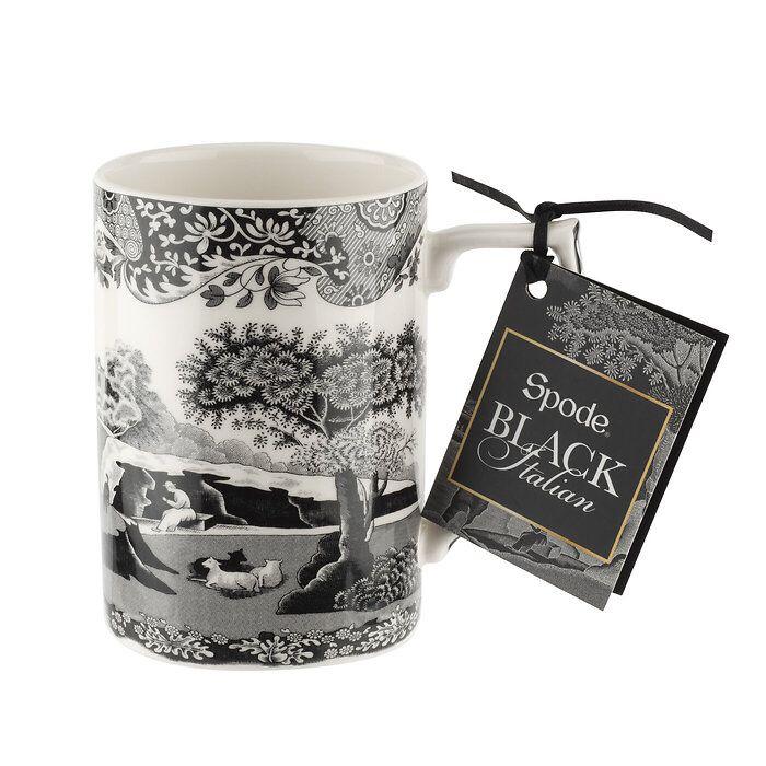 Spode Black Italian Kaffeebecher