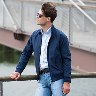 Baracuta G9 Harrington Jacket Navy